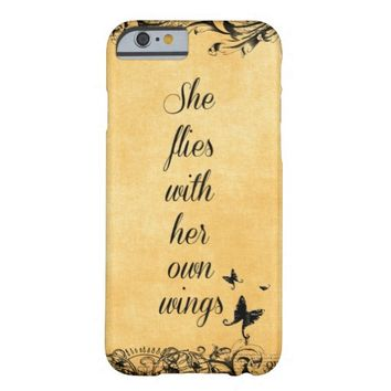 Inspirational She Flies with her own Wings Quote