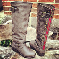 PRE ORDER Paint The Town Red Taupe Riding Boot