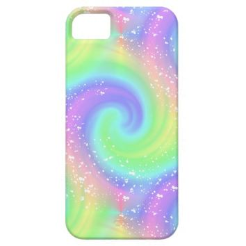 Rainbow Spiral Wave Spattered iPhone 6 Case
