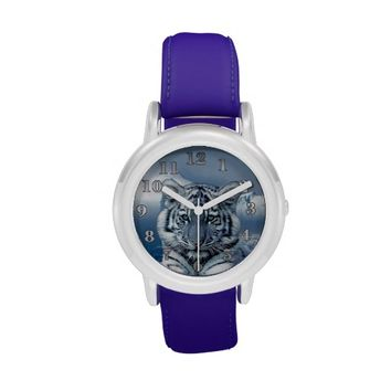 White Tiger Kid's Stainless Steel Watch