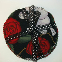 Coaster Set Skulls and Roses