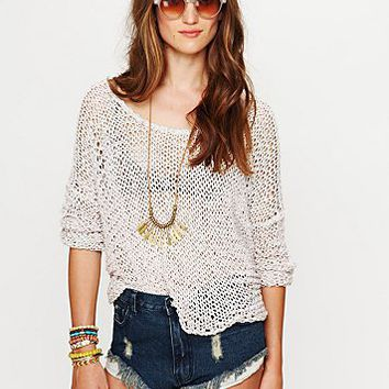 Free People Tape Yarn Beach Sweater