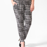 Tribal Print Straight Pants