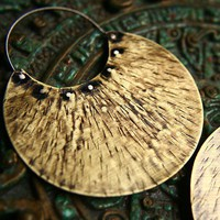 Ethnic Brass Earrings by indiaylaluna on Etsy