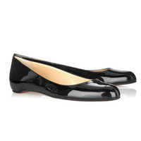 Christian Louboutin Balacorta Patent Leather Flats Black