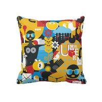 Modern Retro Throw Pillows from Zazzle.com