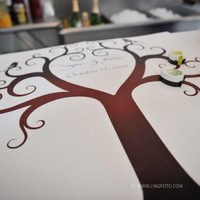 Birds of a Feather Fingerprint Tree Canvas by PaperThickInk