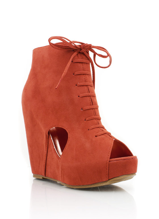 peep-toe-cut-out-bootie BLACK CORAL RUST TAUPE TEAL - GoJane.com