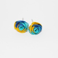 Water Rose Polymer Clay Earrings - by sew340 on madeit