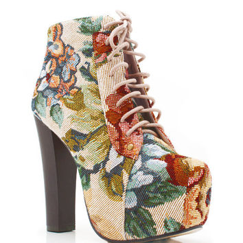 oversized-embroidered-flower-booties PINK - GoJane.com