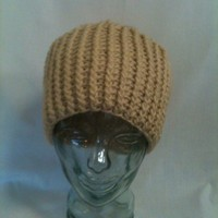 Crochet Mens or Unisex Cable Hat Cream - Handmade Crochet Hat Crochet Textured Hat Beanie Winter Fall Men Women Gift