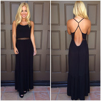 High Profile Boho Maxi Dress - BLACK