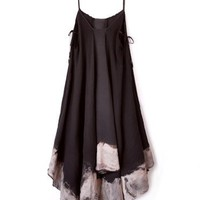 Lindsey Thornburg Handkerchief Bleach Tie Side Dress