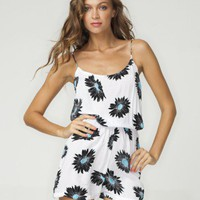 Buy Motel Glory Slim Strap Playsuit in Big Daisy Print at Motel Rocks