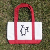 Penguin Martini Sturdy Tote Bag