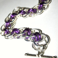 Purple chainmaille bracelet