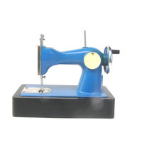 Blue Soviet kids sewing machine toy children kids room decor collectibles toys vintage 70s