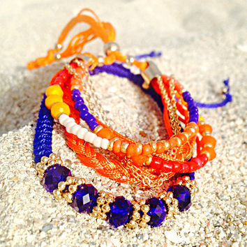 Bikini Luxe Sunset Beaded Bracelet | Braided Bracelet