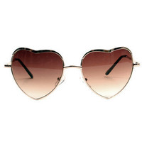 GYPSY WARRIOR - Heart Sunglasses - Gold