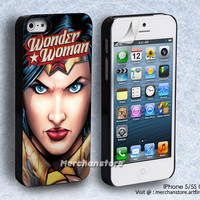 Wonder Woman Superhero Girl iPhone 5 or 5S Case