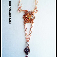 Necklace - Time in Still - copper - chain