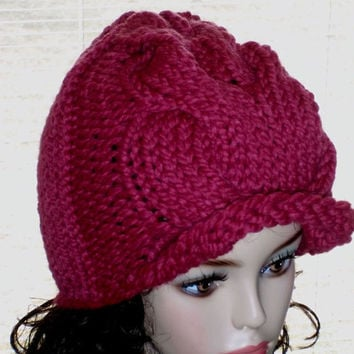 Knit Hat Women Cabled