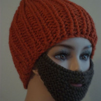 Bearded Beanie Orange