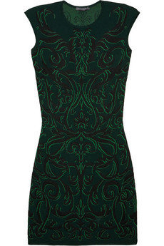 Alexander McQueen|Patterned knitted dress|NET-A-PORTER.COM