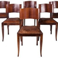 One Kings Lane - Kathleen & Maurizio Almanza - 1940s Italian Deco Chairs, Set of 6