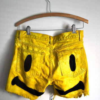 smiley high waisted cutoffs