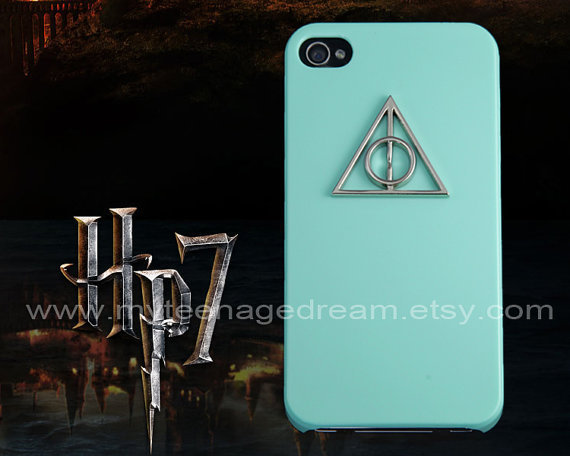 Harry Potter Deathly Hallows Iphone 4 Case, iPhone 4s Case, iPhone Case 4 light green IPHONE 4/4S Case----for Apple iPhone 4s Cases,