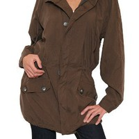 Women`s Bailey 44 Farmer John Silk Jacket in Brown