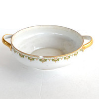 Vintage Floral Bowl Made in France 1890s- 1930s Limoges