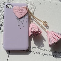 Finished Case- Pink Leather Heart W.. on Luulla
