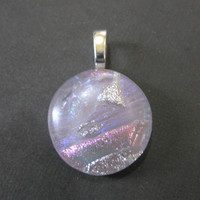Dichroic Glass Slide, Little Purple Pendant - Wine Cooler - 3723