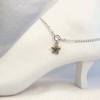 Starfish Ankle Bracelet Silver Anklet Summer Fashion Foot Jewelry
