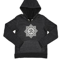 Aum Clothing Beaded Aum Pullover Hoodie - Eco Black