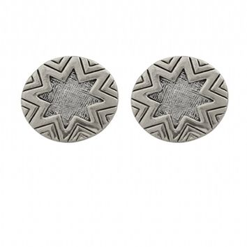 House of Harlow 1960 Jewelry Engraved Sunburst Studs