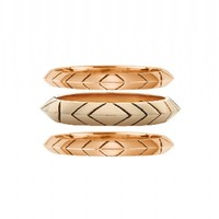 House of Harlow 1960 Jewelry Aztec Stack Rings