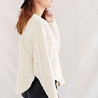 Urban Renewal Recycled Curved-Hem Fisherman Sweater - Urban Outfitters