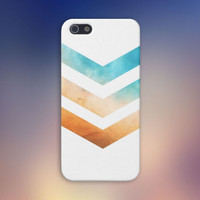 Chevron Orange - Blue Skies Case for iPhone 6 6+ iPhone 5 5S 5C iPhone 4 4S and Samsung Galaxy S5 S4 & S3