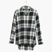 Flannel Oversized Boyshirt in Lamont Plaid