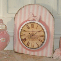 Dollhouse shabby clock . 1:12 dollhouse miniature decoration.