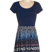 ModCloth Mid-length Short Sleeves A-line Unexpected Outing Dress