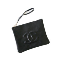 Chanel Embossed Logo Clutch