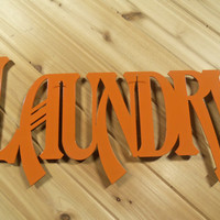 Metal Wall Words Metal Wall Art Laundry By PrecisionCut
