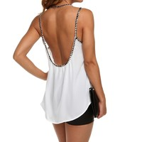 White Studded Affair Cami Top