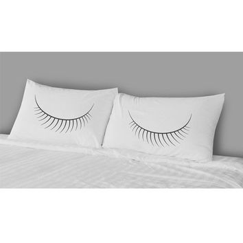 The Rise And Fall Eyes Pillow Case Set White One Size For Women 25085315001