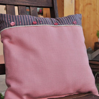 Rose dream pillow with insert - cute buttons