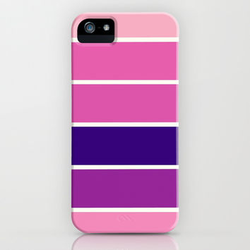 Pink & Purple Stripes iPhone & iPod Case by 2sweet4words Designs | Society6